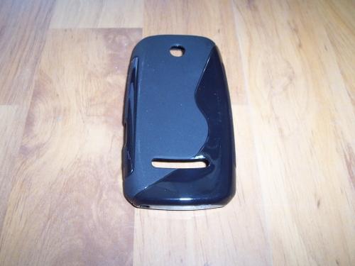Husa Silicon S-case Neagra Pentru Telefon Nokia 305 / 306 Asha