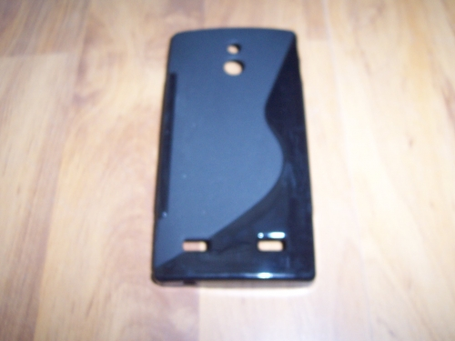 Husa Silicon S-case Neagra Pentru Telefon Sony Xpe