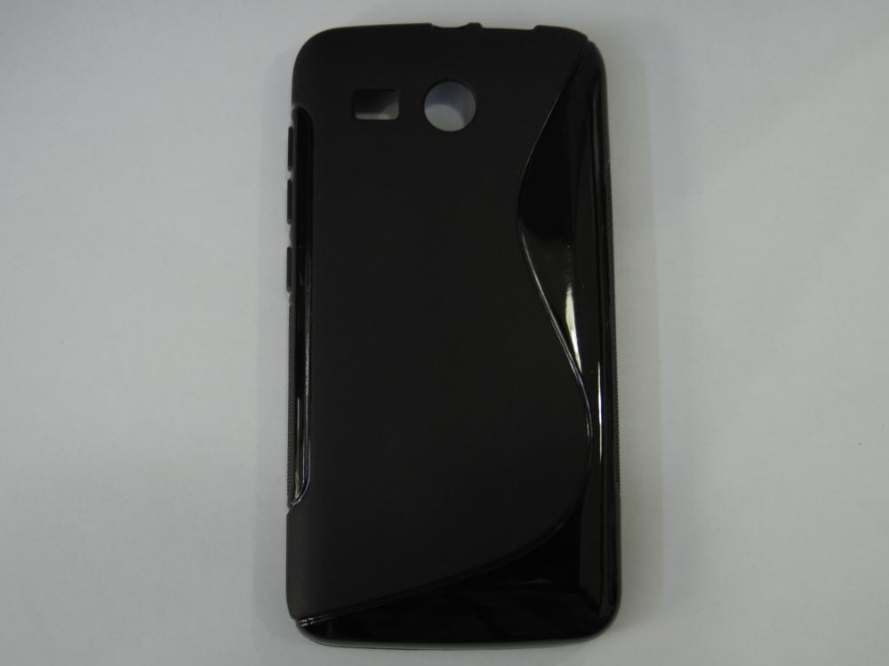 Husa Silicon S-line Neagra (epc) Pentru Telefon Hu