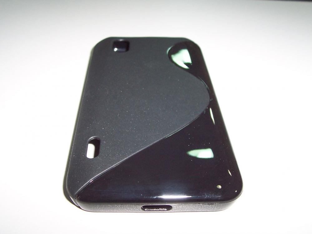 Husa Silicon S-line Neagra (epc) Pentru Telefon Lg