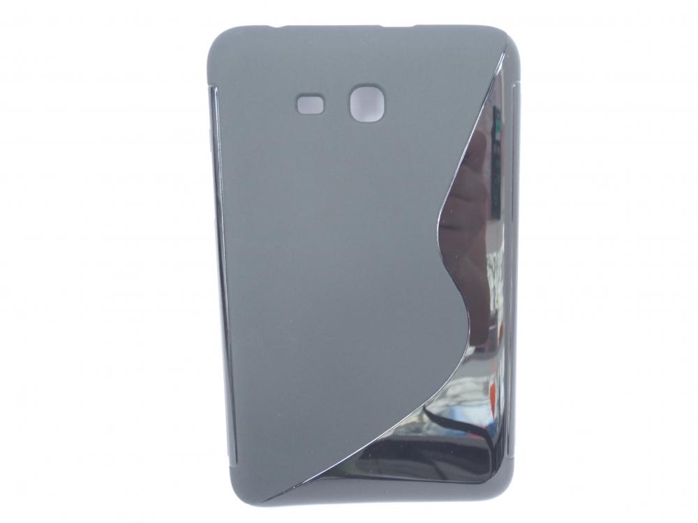 Husa Silicon S-line Neagra Pentru Tableta Samsung