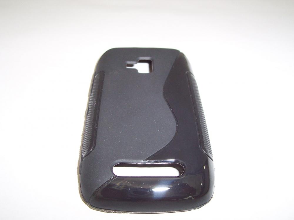 Husa Silicon S-line Neagra Pentru Telefon Nokia Lu
