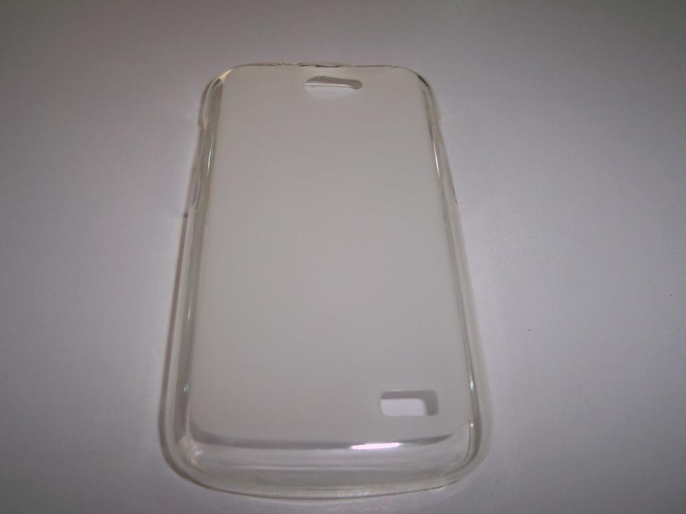 Husa Silicon Transparenta (cu Spate Mat) Pentru Telefon Allview A5 Duo