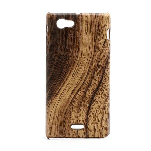 Husa Tip Capac Plastic Galben+maro (wood Grain) (m