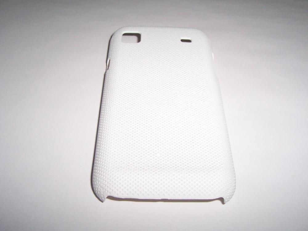 Husa Tip Capac Spate Alba (cu Puncte) Pentru Telefon Samsung Galaxy S I9000 / Galaxy S Plus I9001