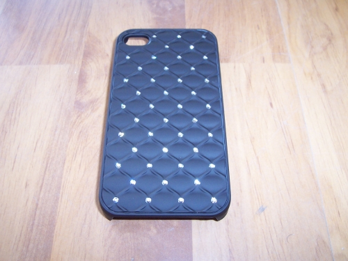 Husa Tip Capac Spate Diamond Neagra Pentru Telefon Apple Iphone 4g/4s