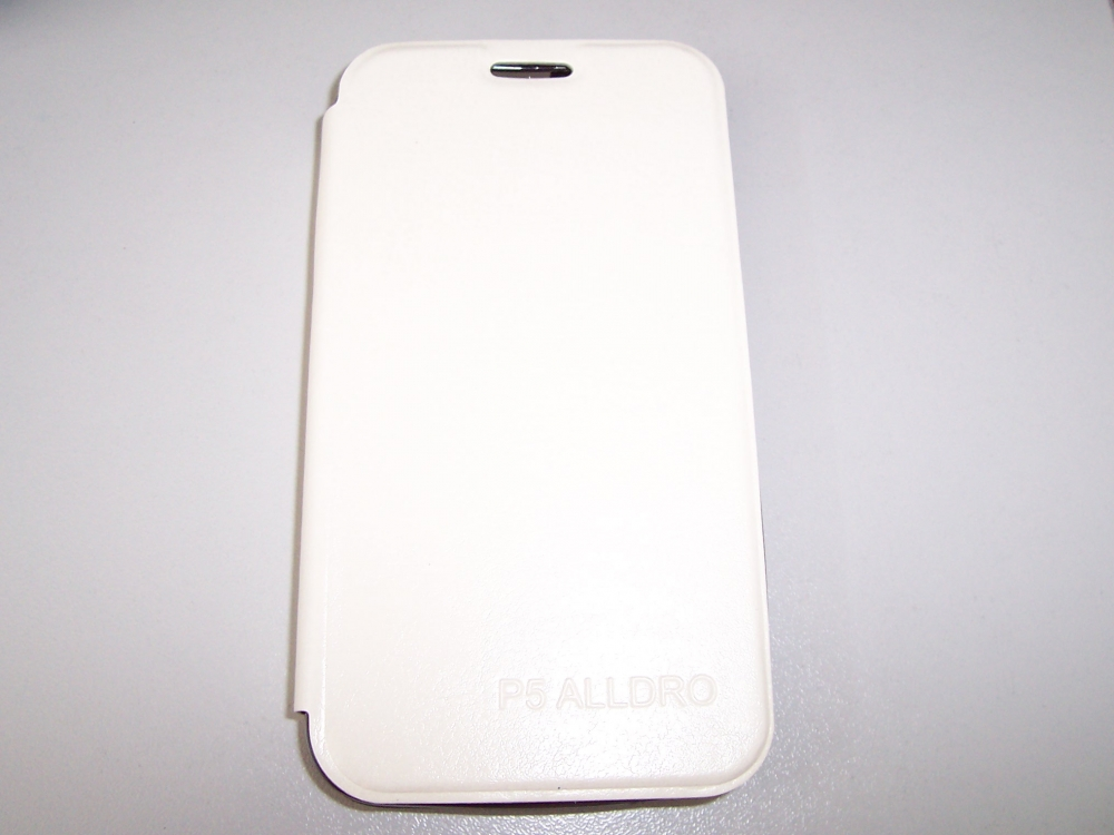 Husa Tip Carte Cu Stand Alba (cu Decupaj Casca) Pentru Telefon Allview P5 Alldro