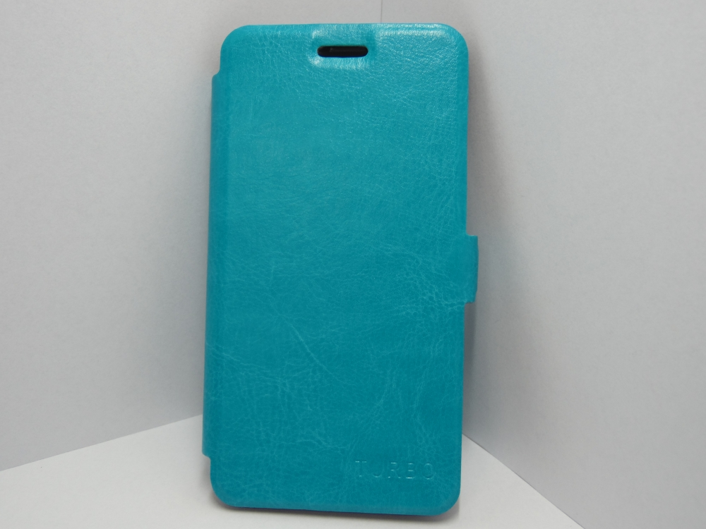 Husa Tip Carte Cu Stand Turquoise (cu Decupaj Casca) Pentru Telefon Vodafone Smart 4 Turbo 889/890n