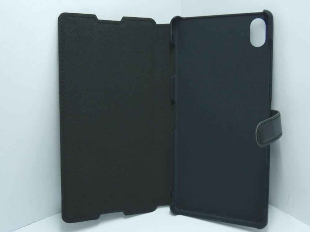 Husa Tip Carte Neagra (aspect Piele) Pentru Telefo