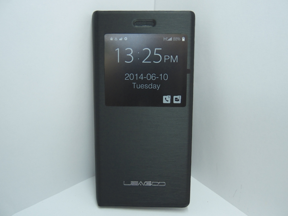 Husa Tip Carte Neagra (cu Decupaj Frontal) (inlocuieste Capacul Telefonului) Pentru Telefonul Leagoo Lead 1