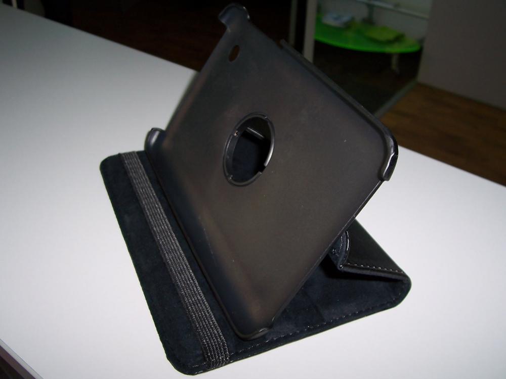 Husa Tip Carte Neagra (model 2) Cu Stand Rotativa