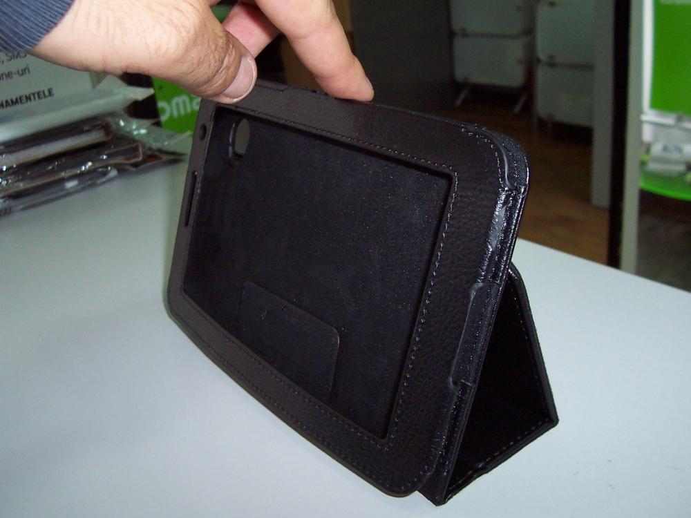 Husa Tip Carte Neagra Cu Stand (model 1) Pentru Ta