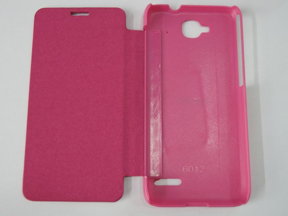 Husa Tip Carte Roz (cu Decupaj Casca) Pentru Telefon Orange Hiro (alcatel Idol Mini Ot-6012)