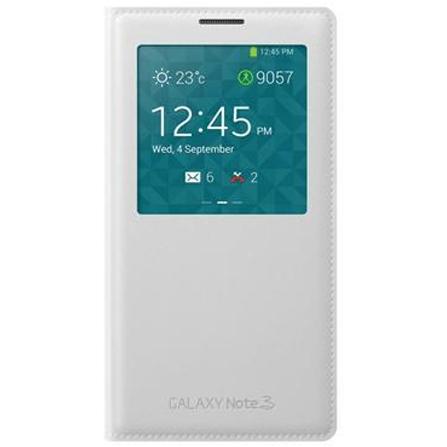 Husa Tip Carte S-view Samsung Ef-cn900bw Alba Pentru Telefonul Samsung Galaxy Note 3 N9000 / Galaxy Note 3 Dual Sim N9002/n9005
