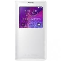 Husa Tip Carte S-view Samsung Ef-cn910ft Alba Pentru Telefonul Samsung Galaxy Note 4 (sm-n910f)