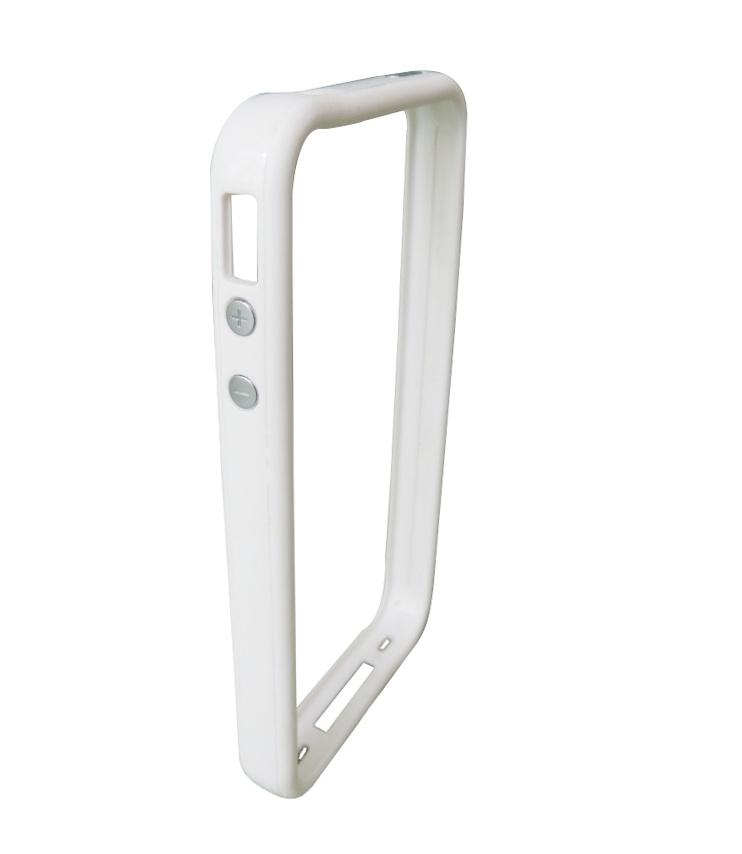 Husa Bumper Comfort alba pentru Apple iPhone 4/4S