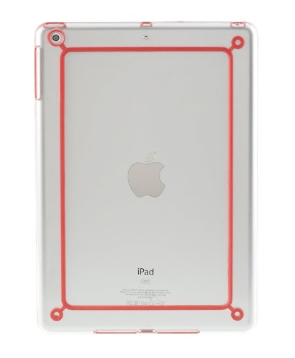 Imagine indisponibila pentru Husa bumper transparent+rosu pentru Apple iPad Air