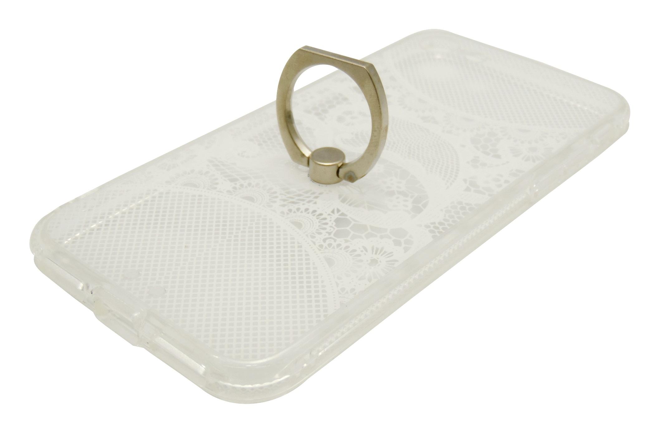 Imagine indisponibila pentru Husa tip capac plastic cu inel Paisley Ring alba (dantela) pentru Apple iPhone 7