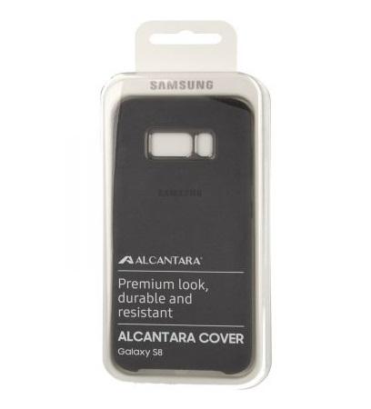 Husa tip capac spate Samsung Alcantara Cover EF-XG950ASEGWW gri inchis pentru Samsung Galaxy S8 (G950)