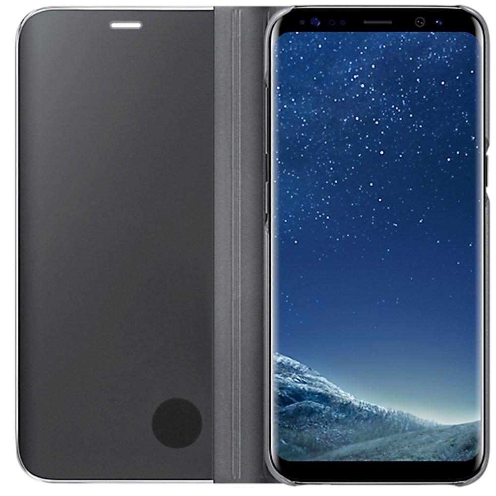 Husa tip carte Clear View Stand Cover Samsung EF-ZG950CBEGWW negru semitransparent pentru Samsung Galaxy S8 G950
