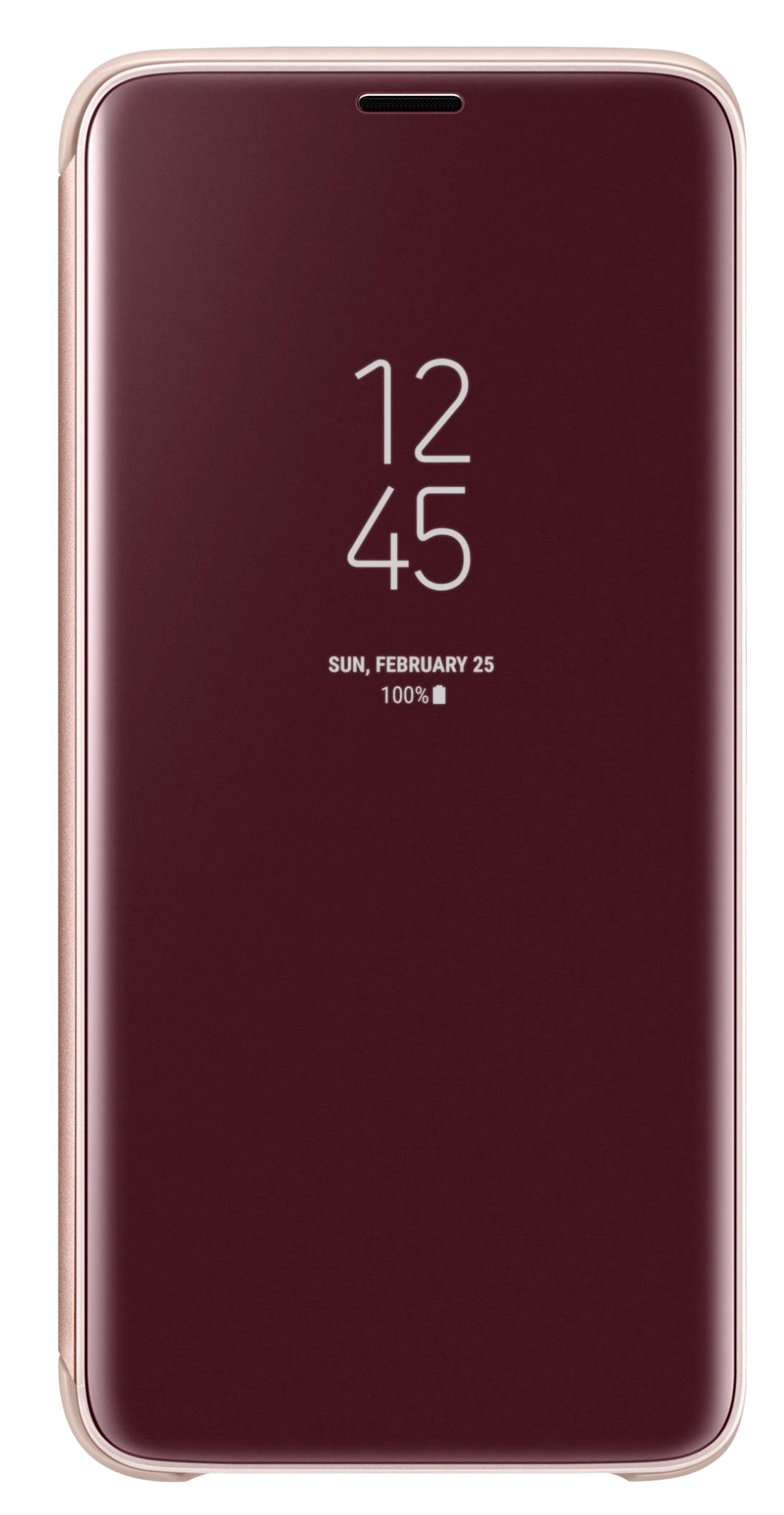 Husa tip carte Clear View Standing Cover Samsung EF-ZG960CFEGWW auriu semitransparent pentru Samsung Galaxy S9 (G960)