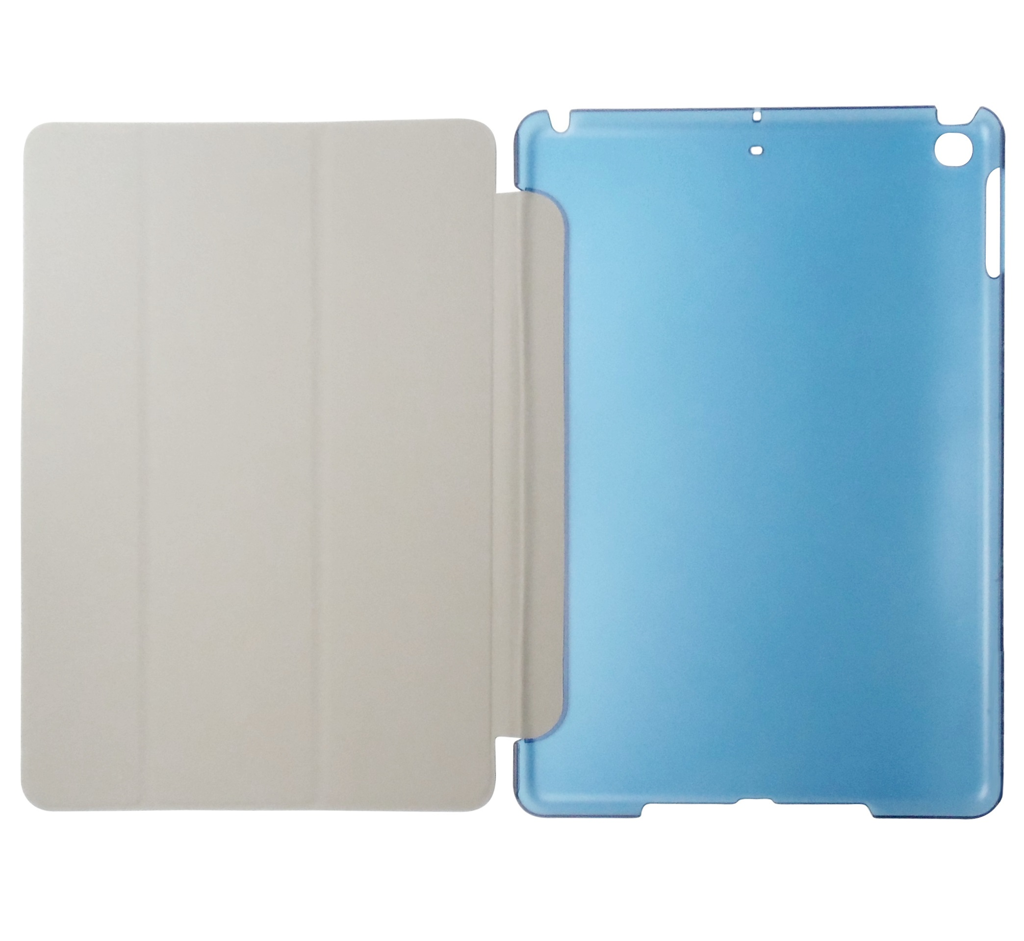 Husa tip carte albastra spate albastru transparent cu stand pentru Apple iPad 9.7 (2017) / iPad 9.7 (2018)