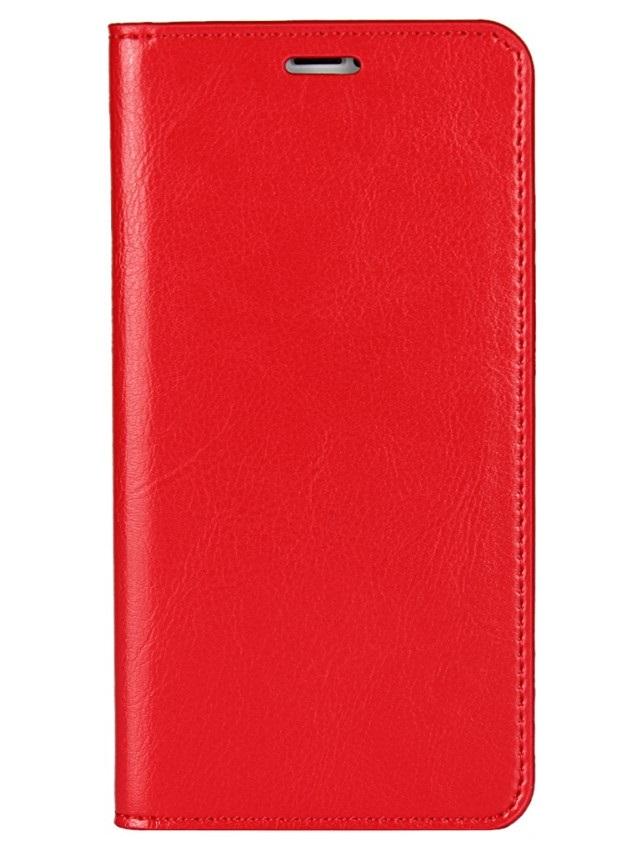 Husa tip carte cu stand (Crazy Horse) rosie pentru Apple iPhone X