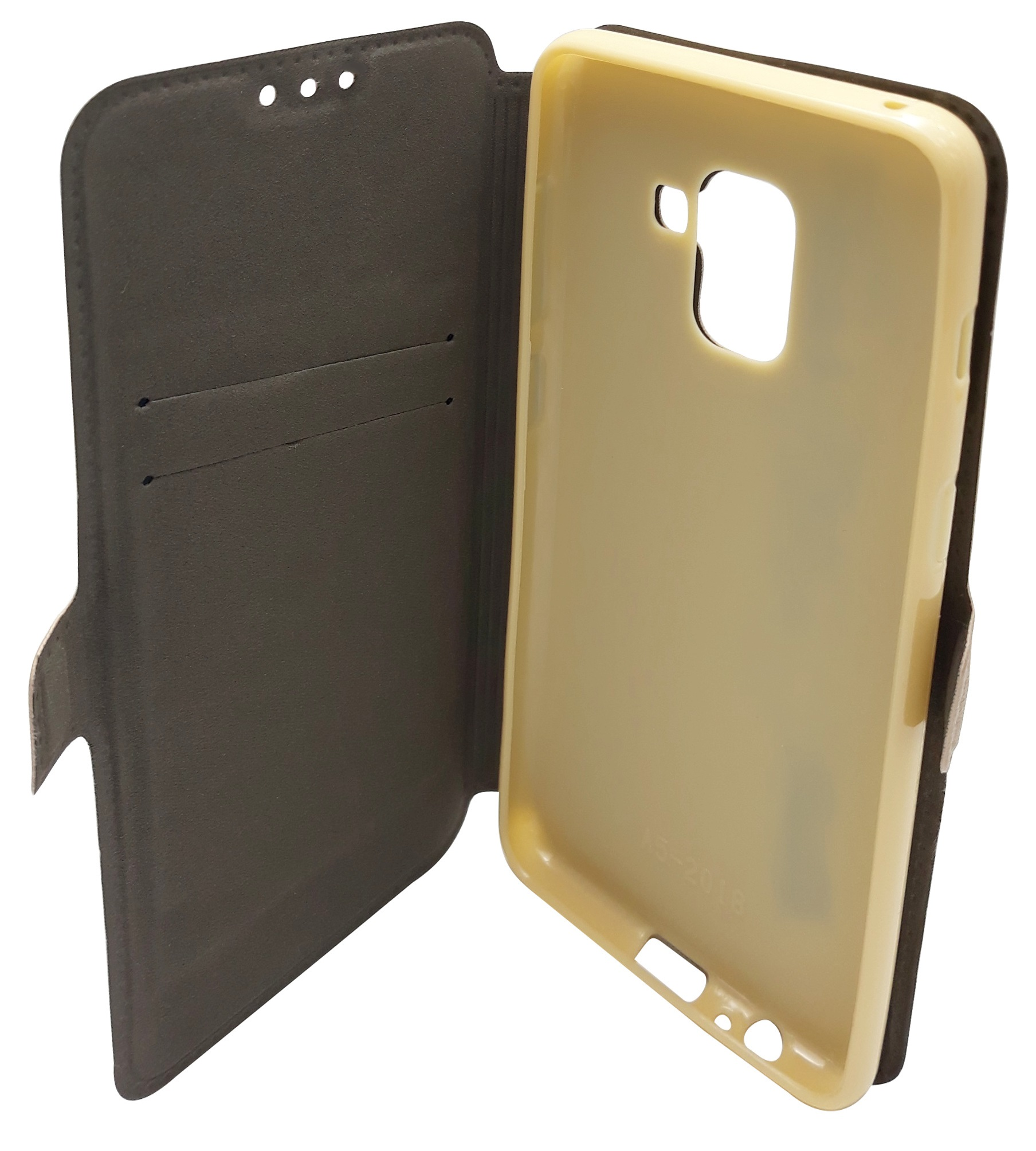 Husa tip carte cu stand Magnet Book aurie pentru Samsung Galaxy A8 2018 (SM-A530) (A5 2018)
