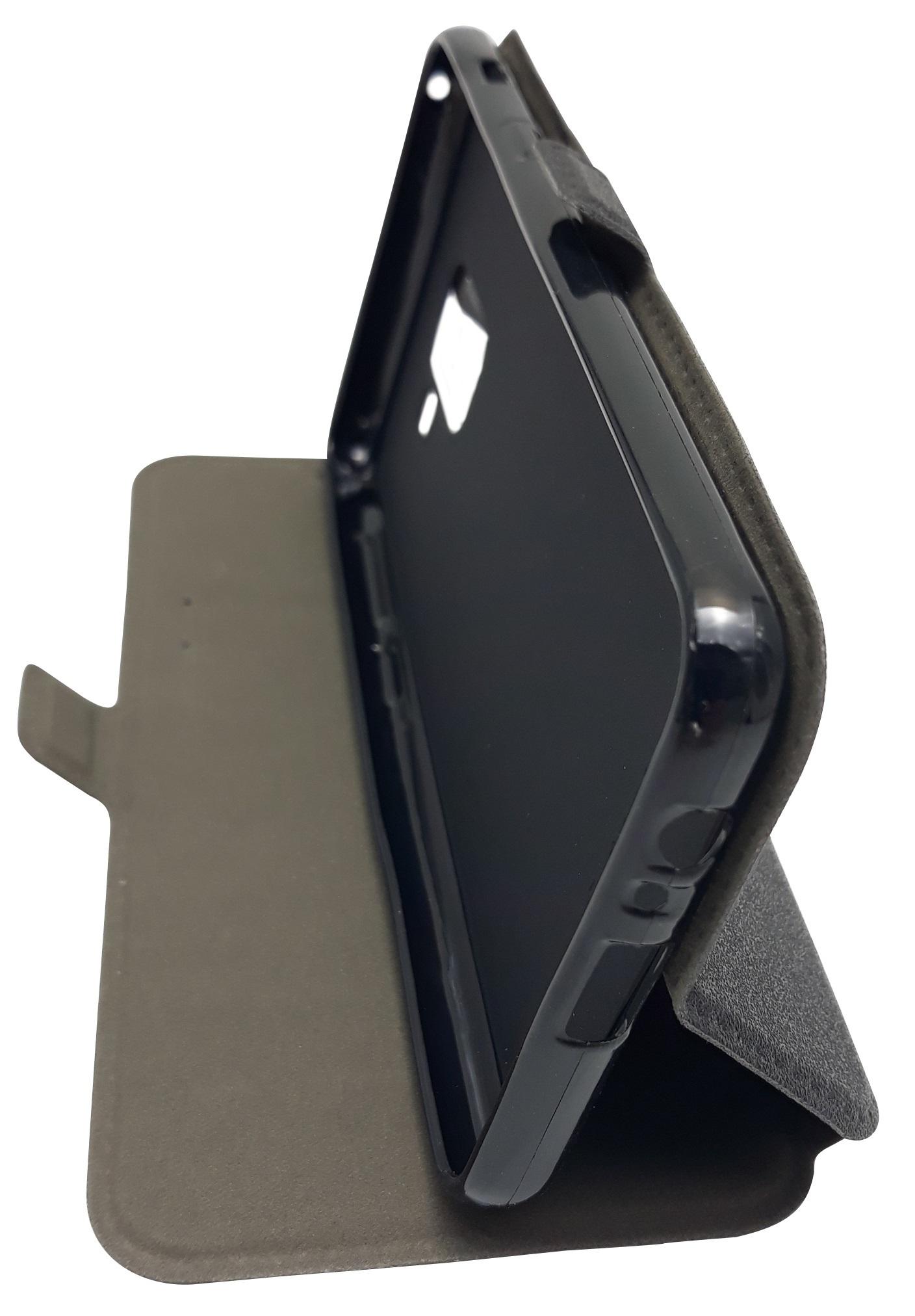 Husa tip carte cu stand Magnet Book neagra pentru Samsung Galaxy A8 2018 (SM-A530) (A5 2018)