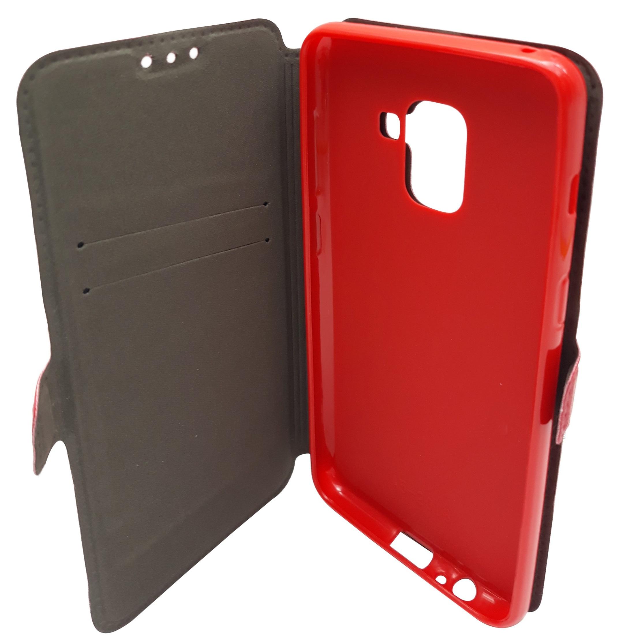 Husa tip carte cu stand Magnet Book rosie pentru Samsung Galaxy A8 2018 (SM-A530) (A5 2018)