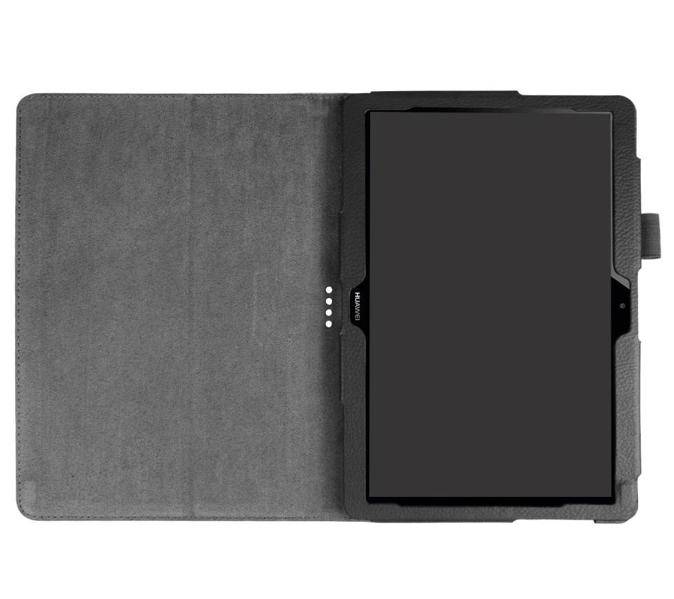 Husa tip carte neagra (textura Litchi) cu stand pentru Huawei MediaPad T3 10