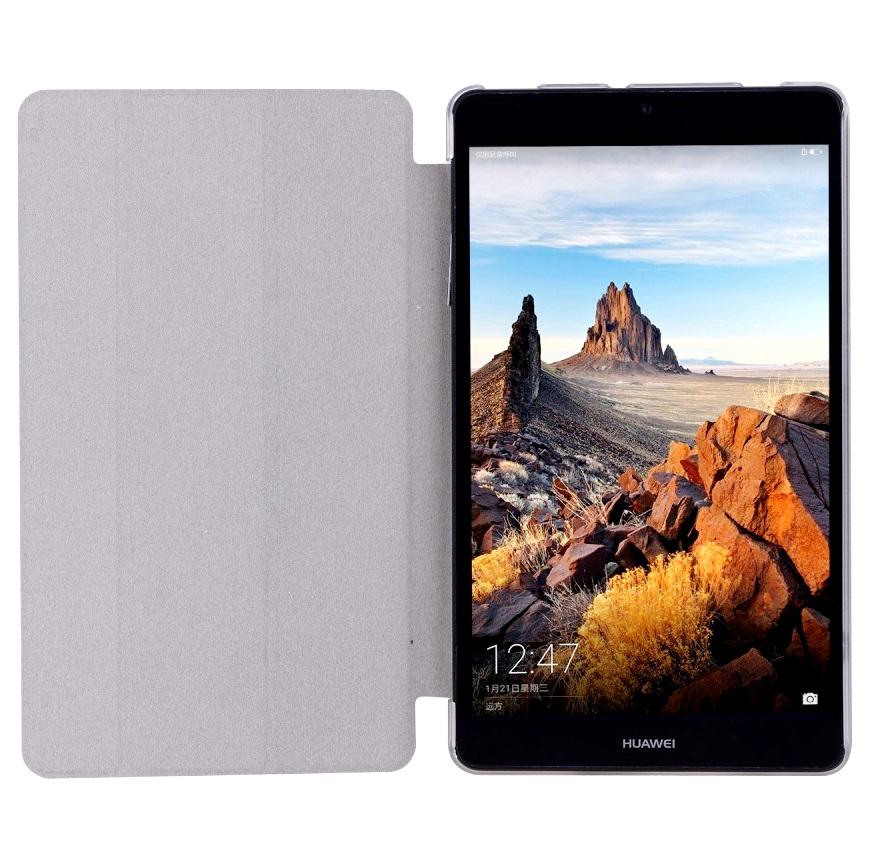 Husa tip carte neagra spate transparent cu stand pentru Huawei MediaPad T3 7.0