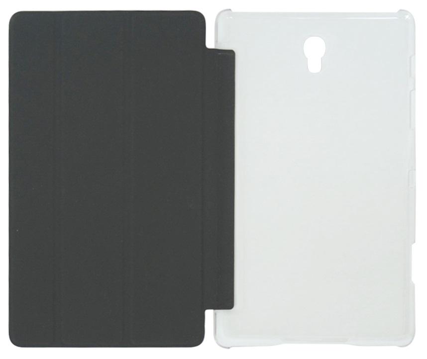 Husa tip carte neagra spate transparent cu stand pentru Samsung Galaxy Tab S 8.4 (SM-T700), Tab S 8.4 LTE (SM-T705)