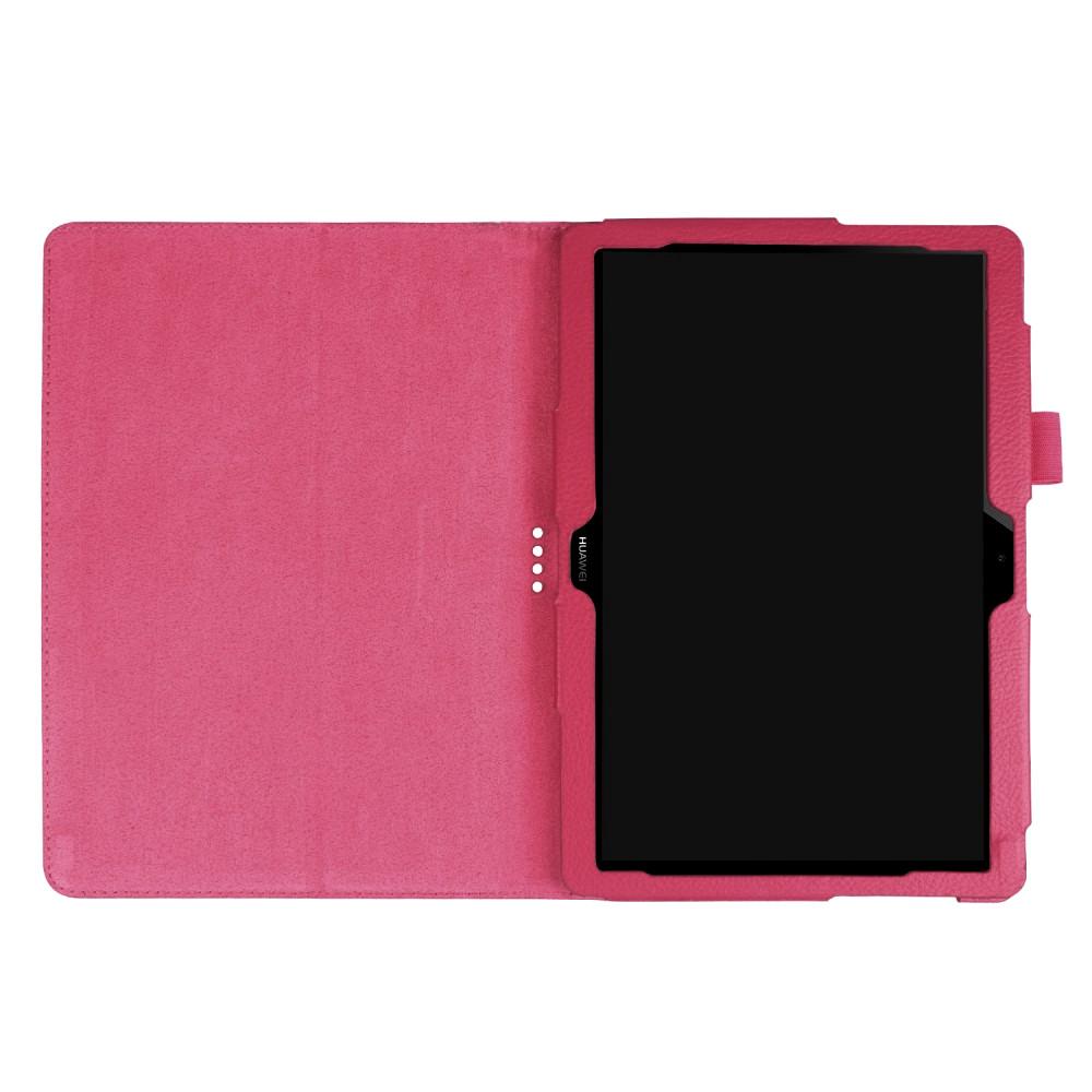 Husa tip carte rosie (textura Litchi) cu stand pentru Huawei MediaPad T3 10