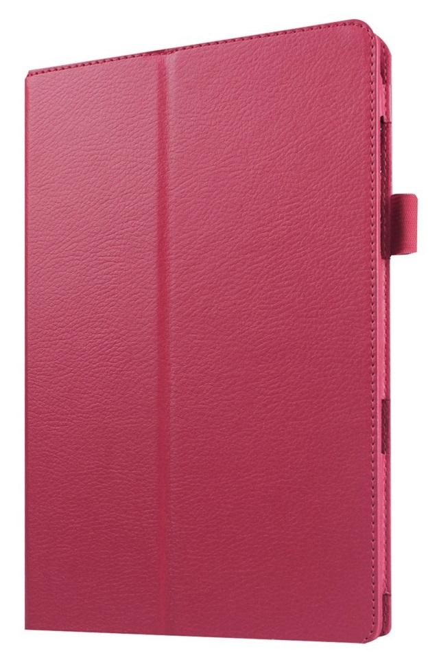 Husa tip carte rosie (textura Litchi) cu stand pentru Samsung Galaxy Tab E 9.6 T560 / T561