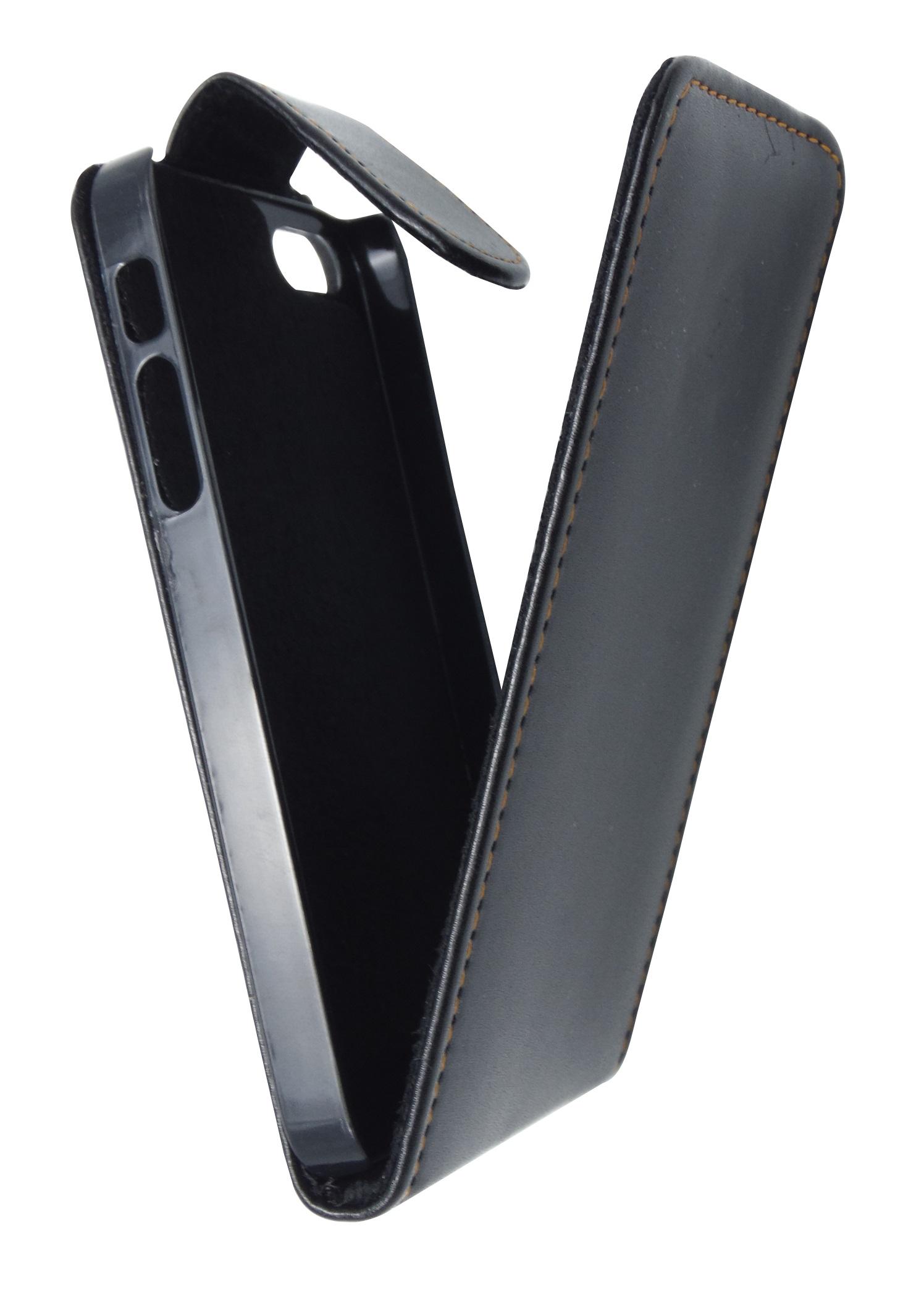 Husa flip neagra pentru Apple iPhone 5/5S/SE