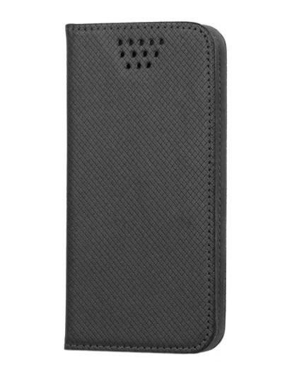 Husa universala GreenGo Smart Magnet neagra pentru telefoane cu diagonala de 4,5 - 5 inch