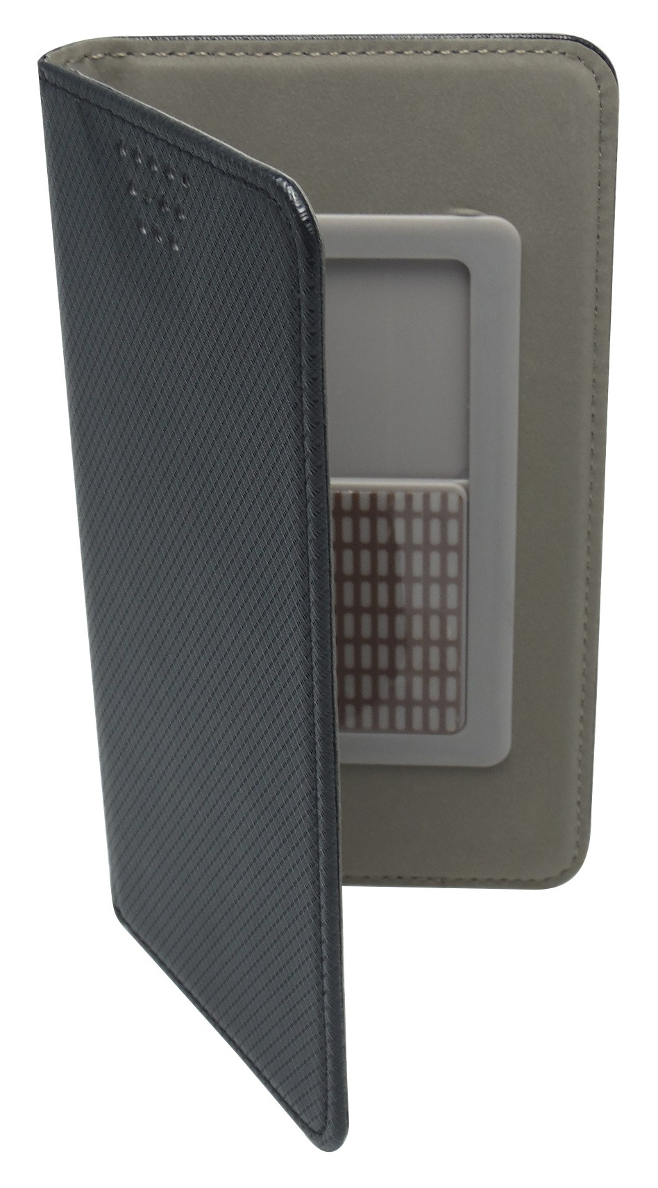 Husa universala GreenGo Smart Magnet neagra pentru telefoane cu diagonala de 5,5 - 5,7 inch