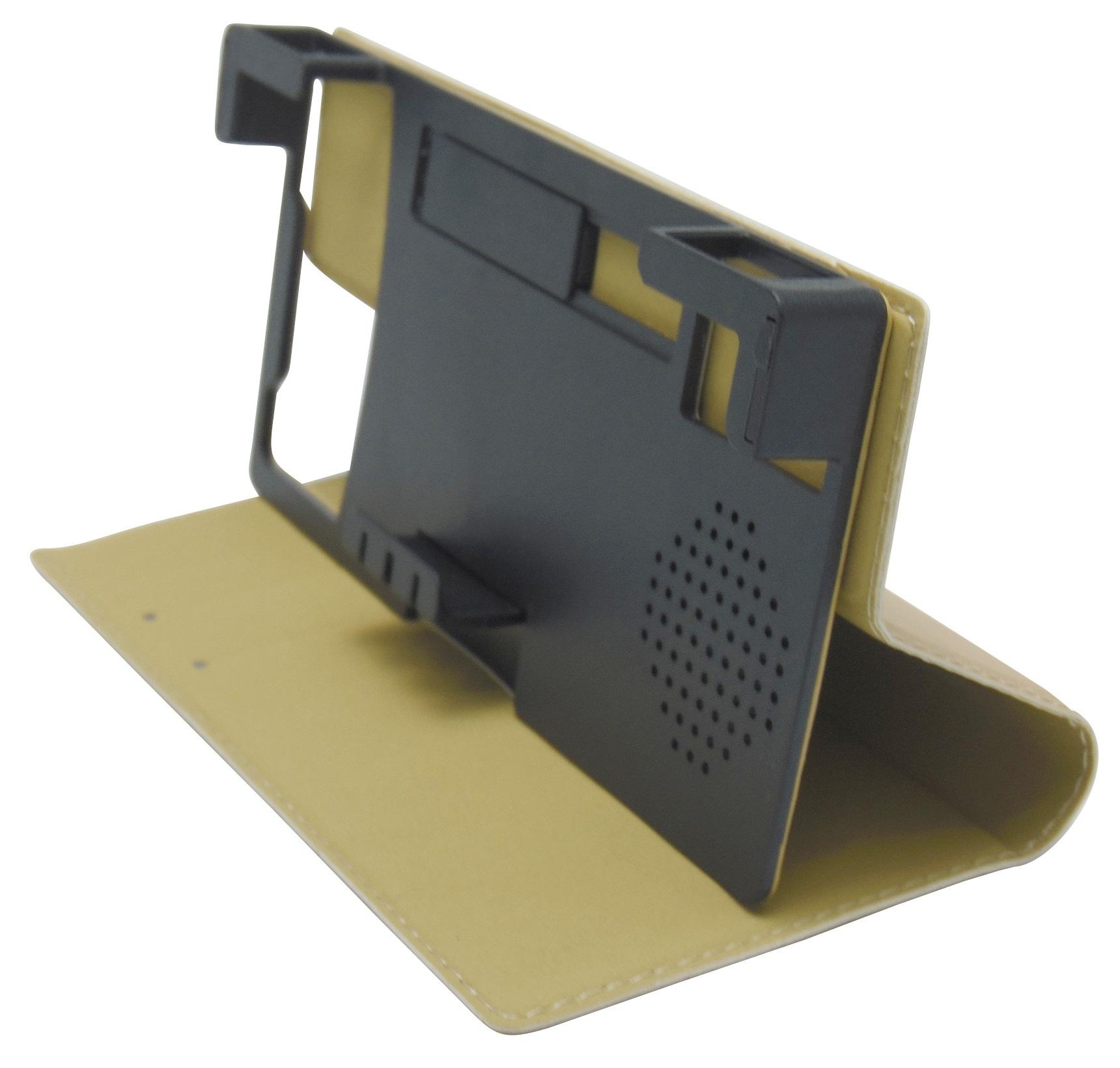 Husa universala GreenGo Smart Master aurie (reglabila) cu stand si rama mobila pentru telefoane cu diagonala de 4 - 4,5 inch