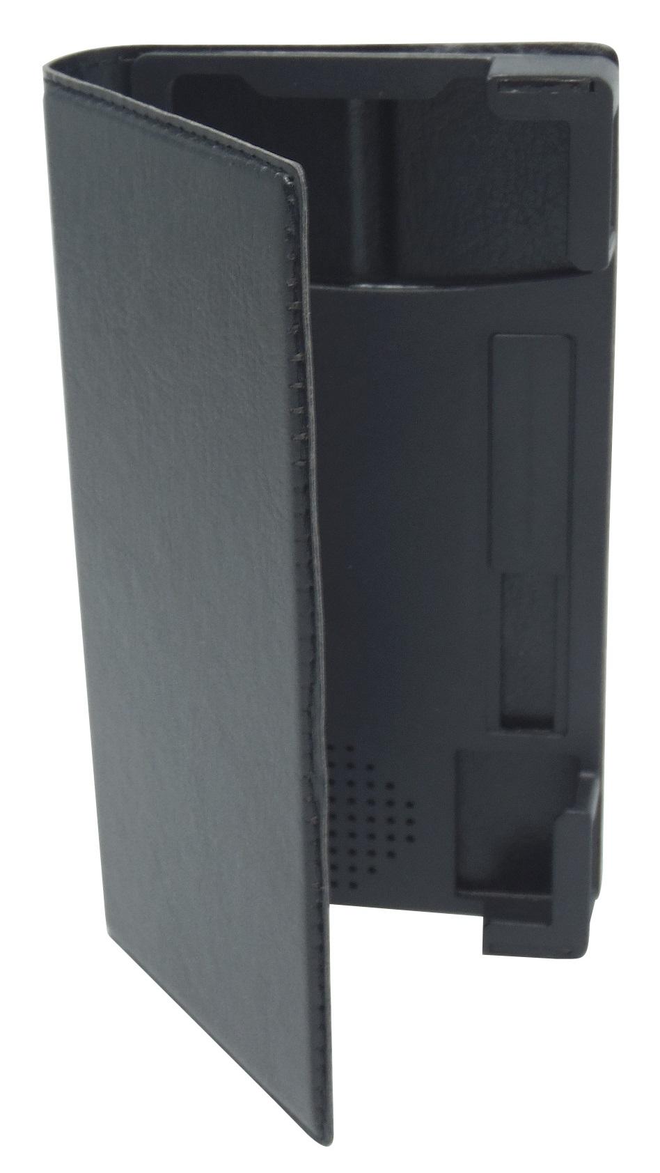 Husa universala GreenGo Smart Master neagra (reglabila) cu stand si rama mobila pentru telefoane cu diagonala de 4 - 4,5 inch