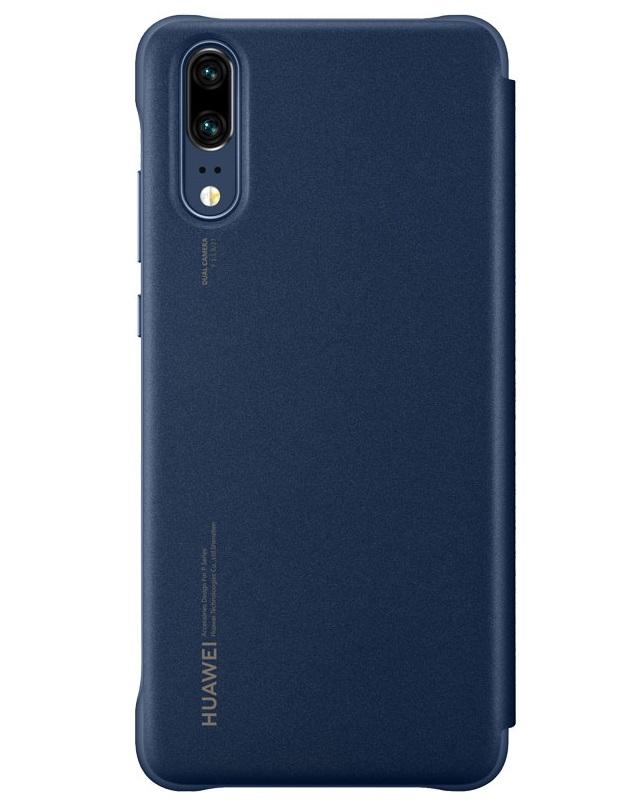 Husa tip carte Huawei 51992359 Smart View Cover bleumarin pentru Huawei P20