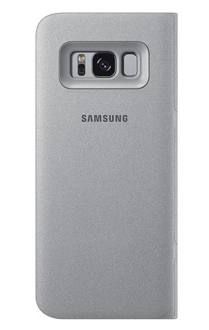 Husa tip carte Led View Cover Samsung EF-NG950PSEGWW argintie pentru Samsung Galaxy S8 (G950)