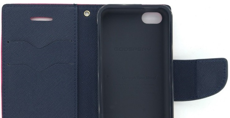 Husa Tip Carte Mercury Goospery Fancy Diary Roz + Bleumarin Pentru Telefon Apple Iphone 5/5s/se