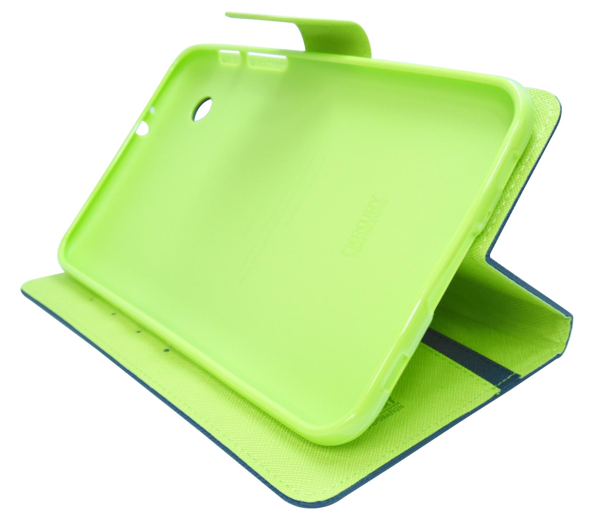 Husa tip carte Mercury Goospery Fancy Diary bleumarin + verde deschis pentru Samsung Galaxy Tab 2 P3100 / P3110