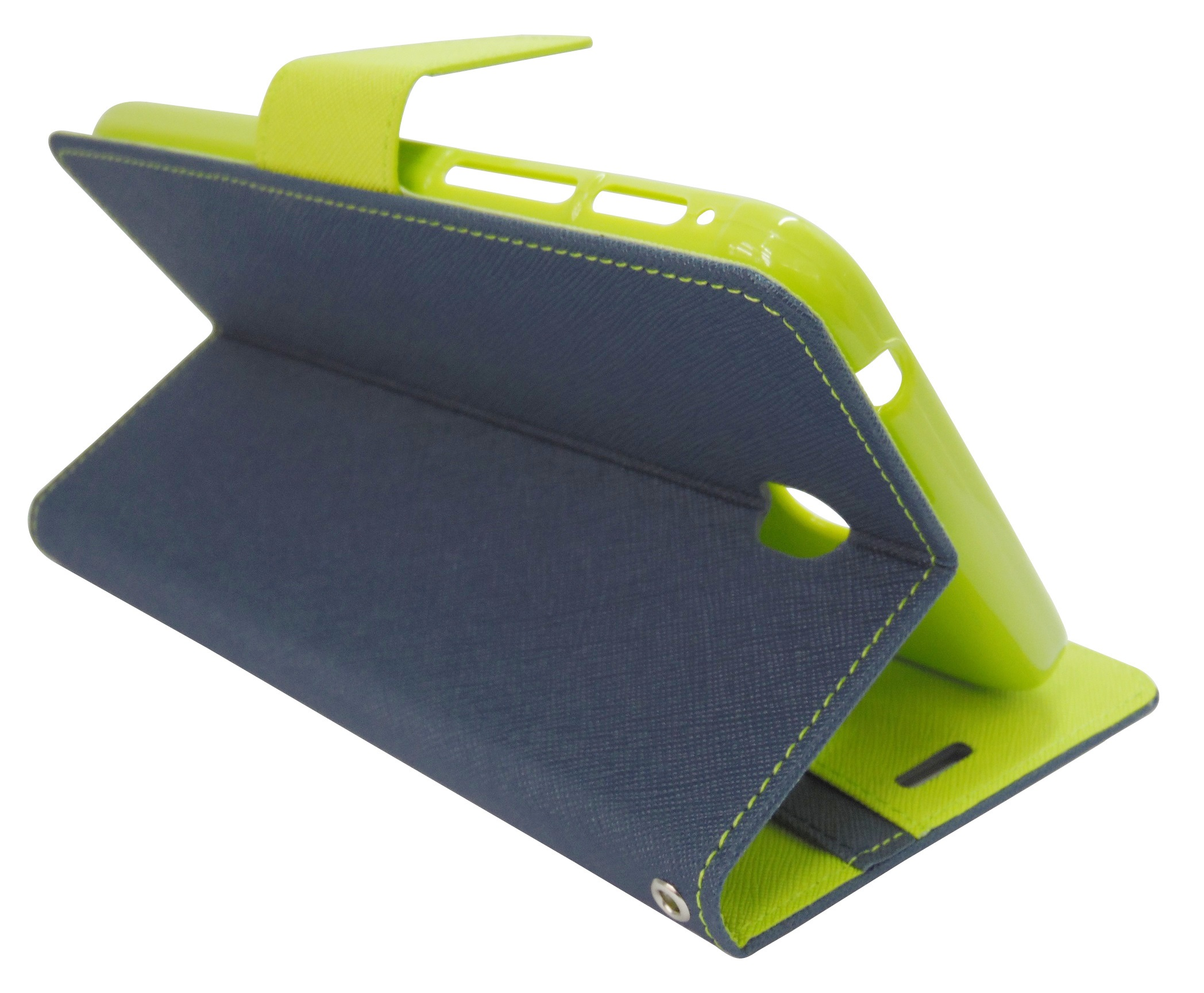 Husa tip carte Mercury Goospery Fancy Diary bleumarin + verde deschis pentru Samsung Galaxy Tab 3 P3200 (SM-T211) / P3210 (SM-T210)