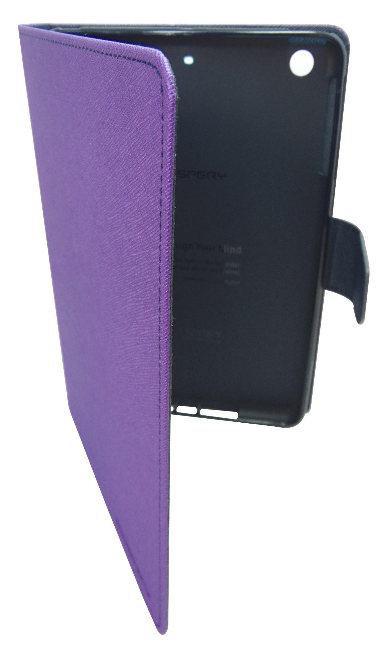 Husa tip carte Mercury Goospery Fancy Diary mov + bleumarin pentru Apple iPad Mini, Mini 2, Mini 3