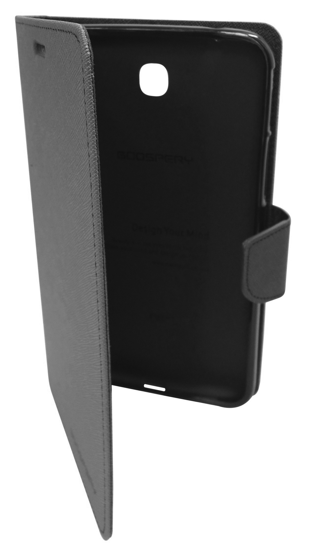 Husa tip carte Mercury Goospery Fancy Diary neagra pentru Samsung Galaxy Tab 3 P3200 (SM-T211) / P3210 (SM-T210)