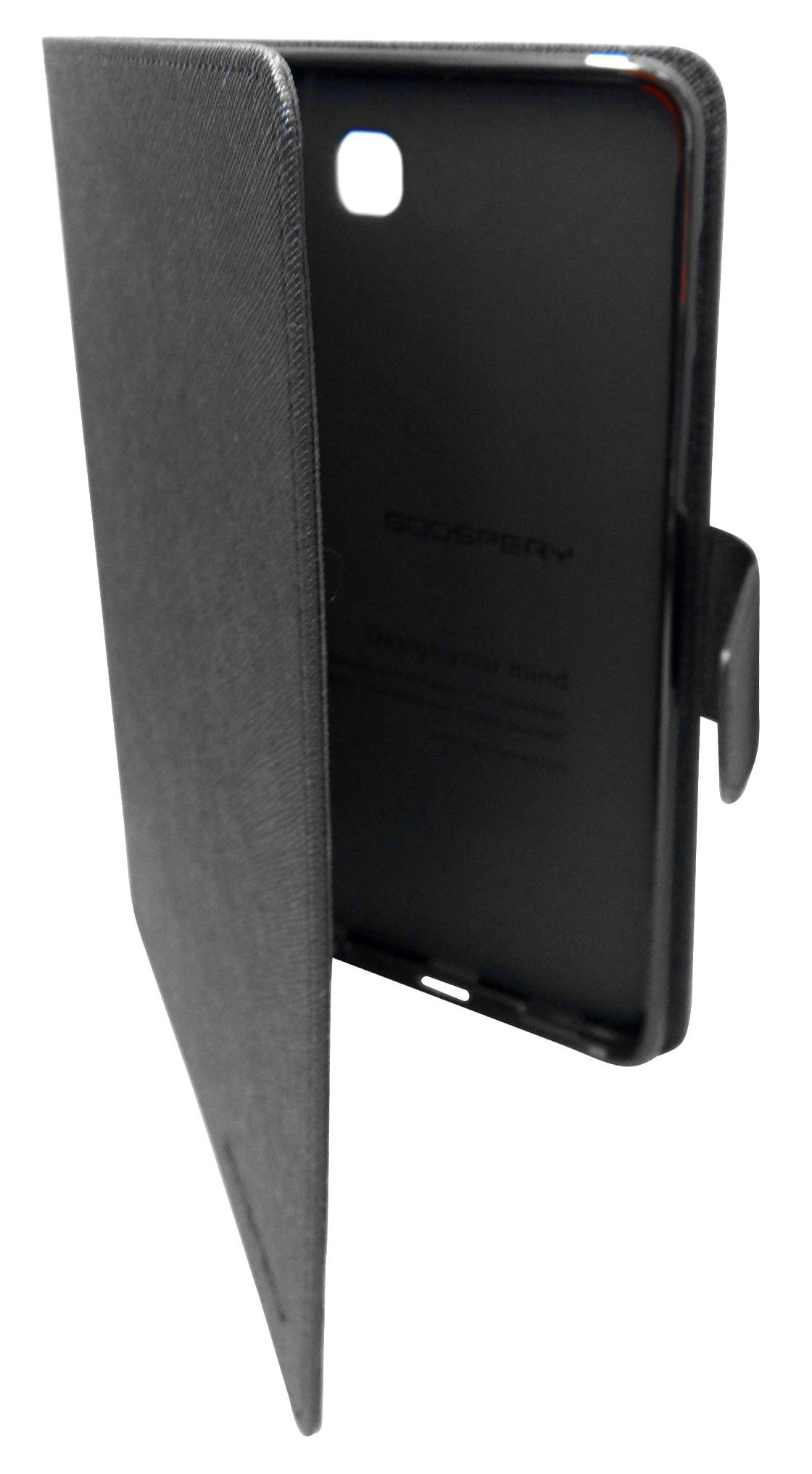 Husa tip carte Mercury Goospery Fancy Diary neagra pentru Samsung Galaxy Tab S2 8 (SM-T710), Tab S2 8 3G LTE (SM-T715)