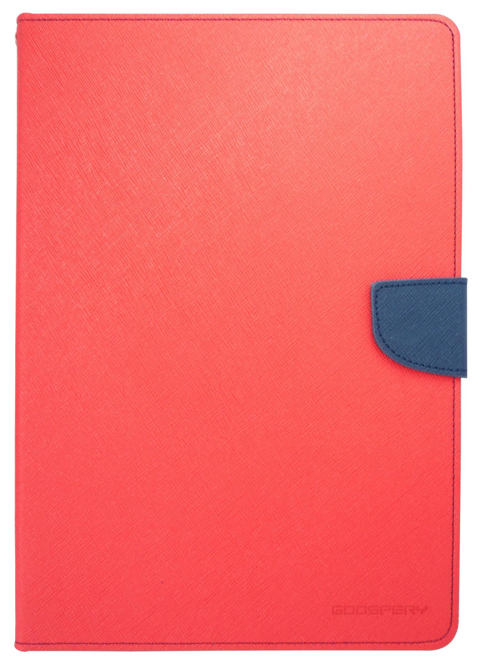 Husa tip carte Mercury Goospery Fancy Diary rosu + bleumarin pentru Samsung Galaxy Tab S2 9.7 T810 / T815 (3G/LTE)