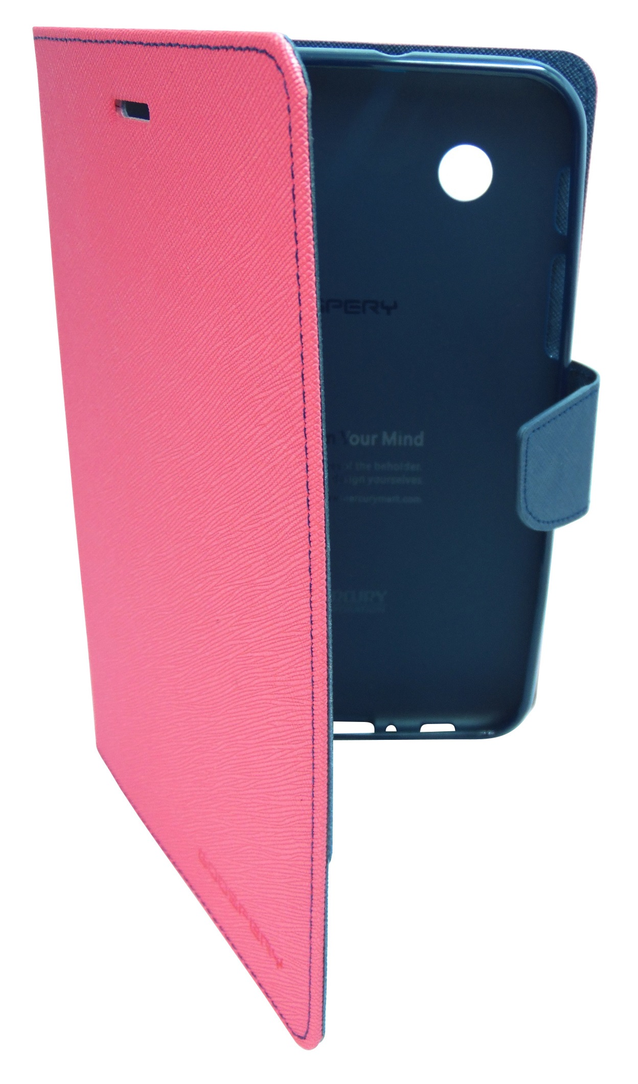 Husa tip carte Mercury Goospery Fancy Diary roz + bleumarin pentru Samsung Galaxy Tab 2 P3100 / P3110